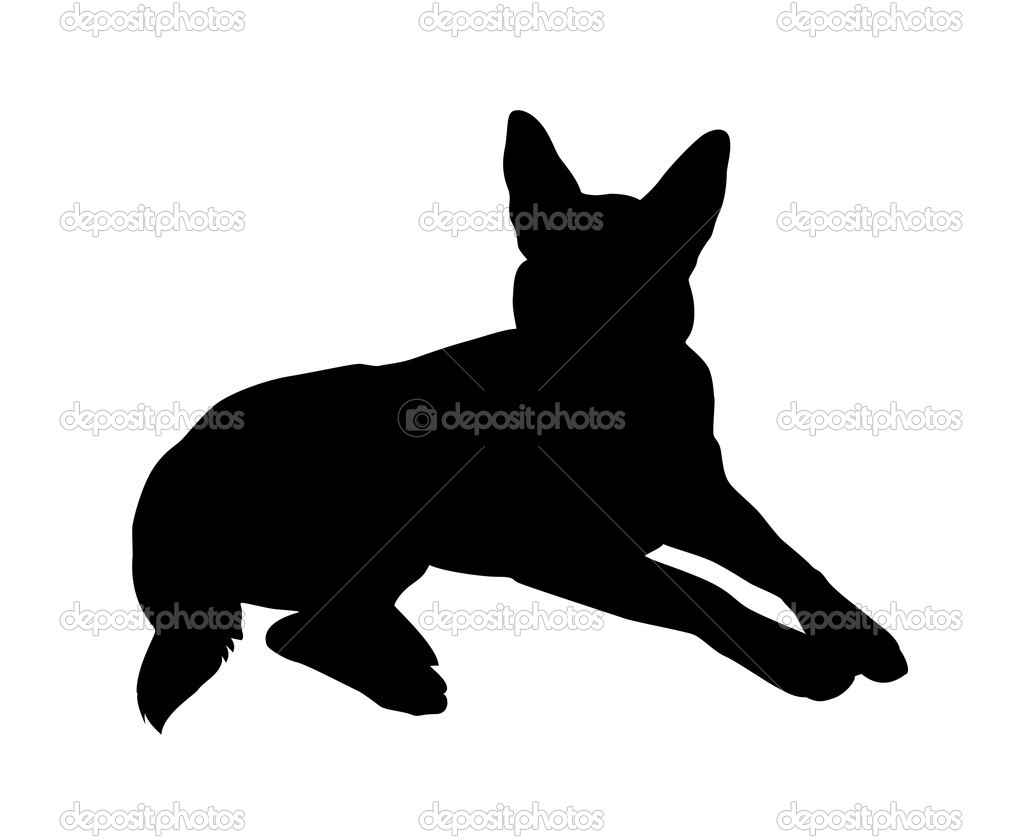 German shepard vector — Stock Vector #11139120