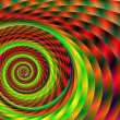 Rainbow Swirl Tunnel Abstract Background — Stock Photo #10772024