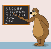 Teacher Bear — Stock Vector