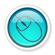 Computer mouse icon button. — Wektor stockowy #11455636