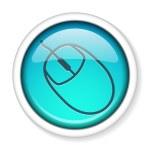 Computer mouse icon button. — Stock Vector