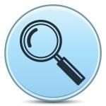 Magnifier Icon — Stock Vector