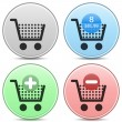 Shopping Cart Icon Button Set — Stock Vector