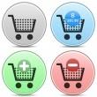 Shopping Cart Icon Button Set — Stock Vector