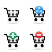 Shopping cart icons set — Stock Vector