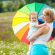 Mother with daughter on the meadow — Stock Photo #10817532
