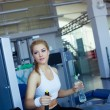 Girl in fitness club — Stock Photo