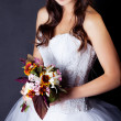 Bride in studio - Stock Photo