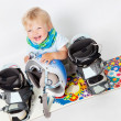 Child with snowboard - Stock Photo