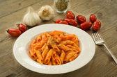 Italian pasta - Mezze penne — Stock Photo