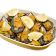 Mussels au gratin — Stock Photo