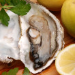 Stock Photo: Oyster, lemon and parsley