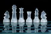 Glas schaken — Stockfoto
