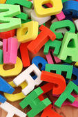 Letras do alfabeto — Foto Stock