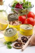 Canned tuna — Stock Photo