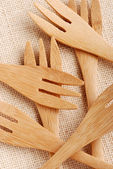 Wooden cutlery — Stock Photo