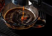 Maszyna ekspres do kawy filiżanka kawy — Zdjęcie stockowe