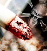 Concept illustration of the danger of smoking — Stock Photo