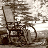 Old 1920's Wheelchair — Stock Photo