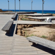 Stock Photo: Road to seand lampposts in Cyprus