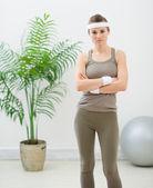 Retrato de mujer fitness — Foto de Stock