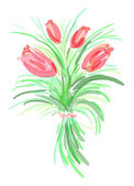 Tulip sketch — Stock Photo