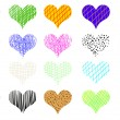 Hearts set — Stock Photo #11849605