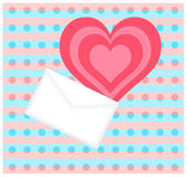 Letter with heart — Stock Photo