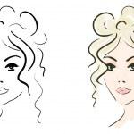 Beautiful girl sketch — Stock Photo #11992870
