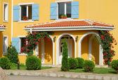 Orange country house — Stock Photo