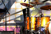 Stage and drum section — Stock Photo