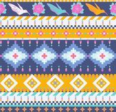 Aztecs seamless pattern — Stock Vector