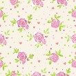 Stock Vector: Seamless roses wallpaper pattern