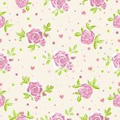 Seamless roses wallpaper pattern — Stock Vector