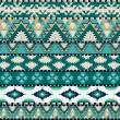 Aztecs seamless pattern on cold color - Stock Vector