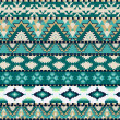 Aztecs seamless pattern on cold color — Stock Vector
