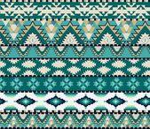 Modèle sans couture aztèques sur couleur froide — Vecteur