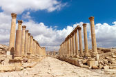 Jerash, Ruins of the Greco-Roman city of Gera — Stock Photo