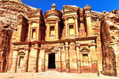 Ancient ruins of the Monastery of Petra — Stock Photo