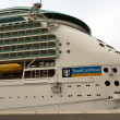 Mariner of the Seas cruise docked at harbor — Stock Photo
