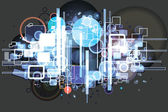 Hi-tech background — Stock Vector