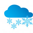 Icon snow — Stock Vector