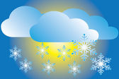 Icon snowfall — Vector de stock