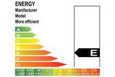 Energy label E — Stock Vector
