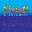 Finish — Stock Vector