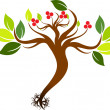 Seedling with roots — Stock Vector #11389843