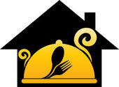 Dream home cooking logo — Stock Vector