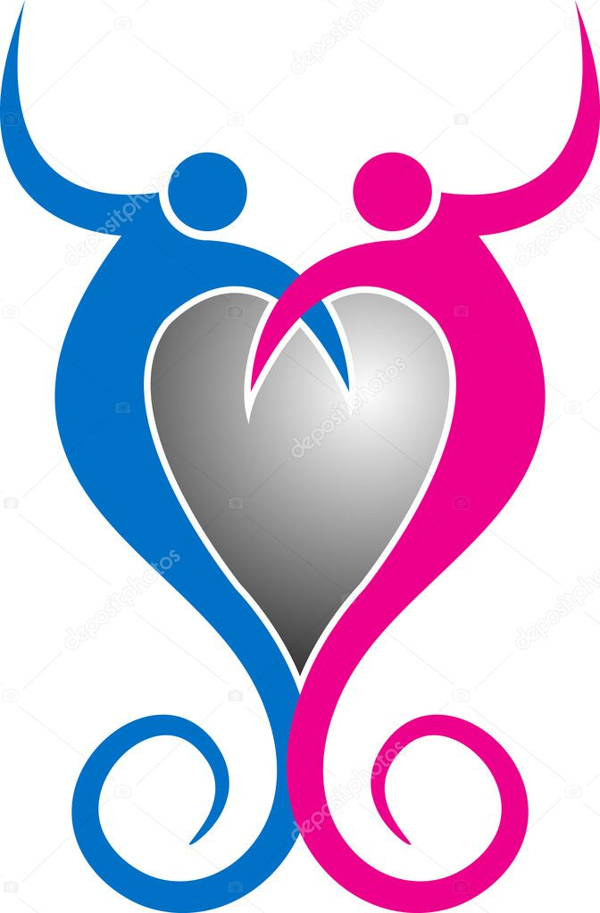 couple heart logo stock vector magagraphics 11447431