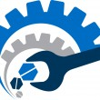 Vector de stock : Power tool logo