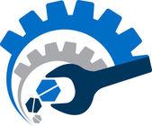 мощность инструмента логотип — Cтоковый вектор